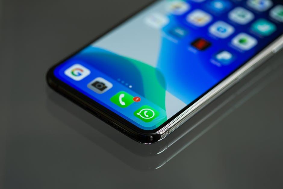 half of a phone screen