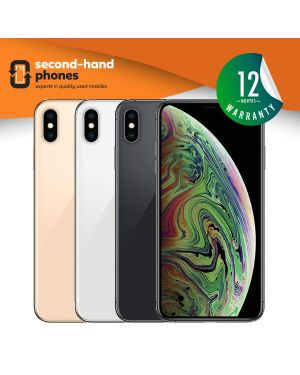 Apple iPhone XS Max - 64GB 256GB 512GB - Silver/Grey/Gold - UNLOCKED Fully Tested & Working