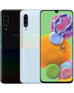 Second Hand Refurbished Samsung Galaxy A90 SM-A908B 5G (2019) - White/Black - UNLOCKED Fully Tested & Working