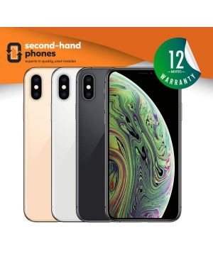 Apple iPhone XS - 64GB 256GB 512GB - Silver/Grey/Gold - UNLOCKED Fully Tested & Working