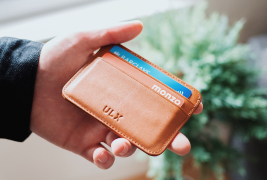 Monzo bank card in wallet