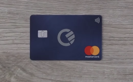 Curve bank card on a table